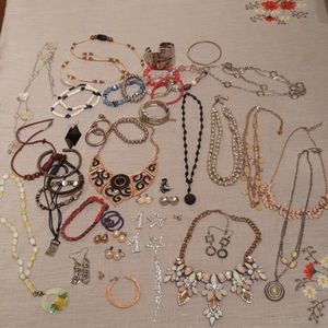 47 Pieces of Modern and Vintage Costume Jewelry